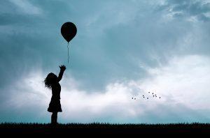 Flicka med ballong